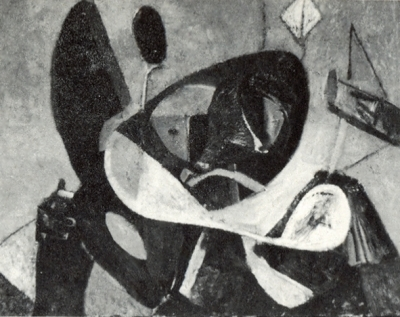 Le cerf-volant - Huile sur toile. 1950 (81x65)