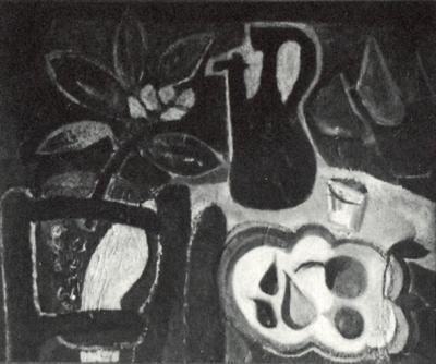 Nature morte - Huile sur toile. 1950 (81x65)