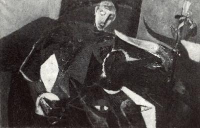 Tauromachie - Huile sur toile. 1950 (101x66)