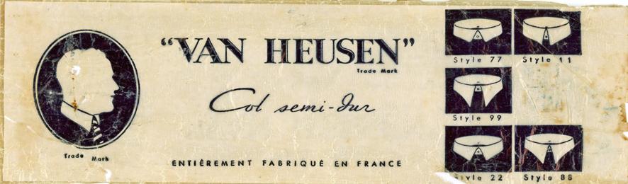 Van Heusen Cols semi-durs - Pochette (recto) 1-1_wp