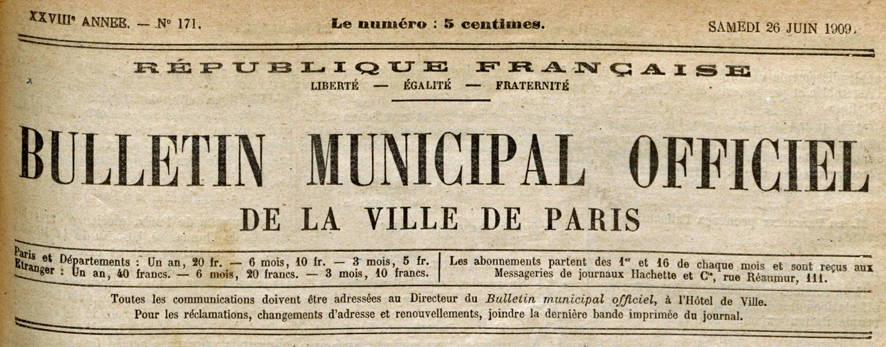 1909-06-26 Bulletin municipal officiel (Titre)_wp