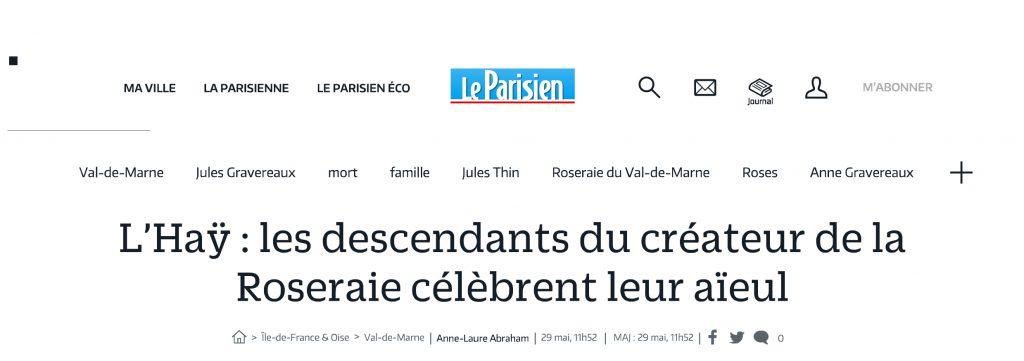 L'haÿ : les descendants ...eur aïeul - Le Parisien
