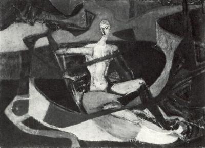 Pêche - Huile sur toile. 1950 (73x100)